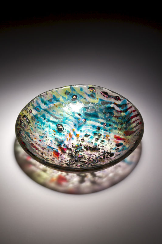 Fused Art Glass Bowl BS16 MADE TO ORDER - product images