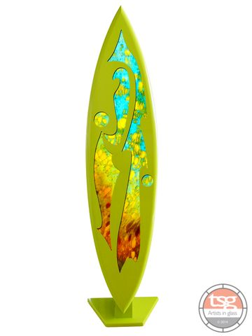 Art,Glass,Surfboard,01,MADE,TO,ORDER,fused glass, surfing, surfboards, Western Australian Art