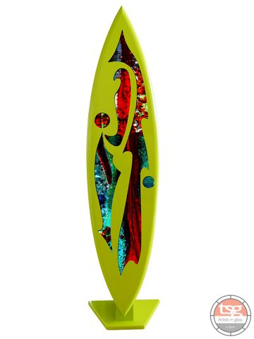 Art,Glass,Surfboard,05,MADE,TO,ORDER,fused glass, surfing, surfboards, Western Australian Art