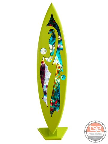 Art,Glass,Surfboard,07,MADE,TO,ORDER,fused glass, surfing, surfboards, Western Australian Art