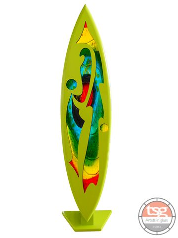 Art,Glass,Surfboard,09,MADE,TO,ORDER,fused glass, surfing, surfboards, Western Australian Art