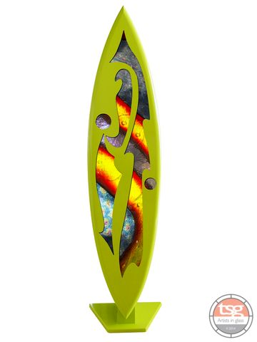 Art,Glass,Surfboard,10,MADE,TO,ORDER,fused glass, surfing, surfboards, Western Australian Art