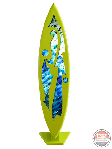 Art,Glass,Surfboard,11,MADE,TO,ORDER,fused glass, surfing, surfboards, Western Australian Art