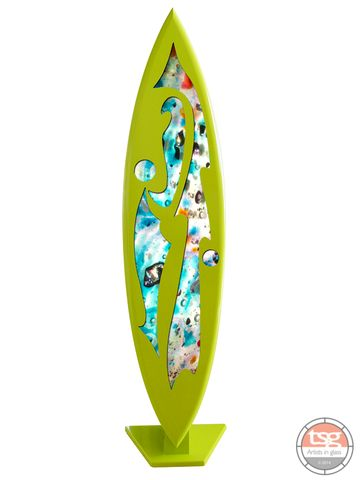 Art,Glass,Surfboard,12,MADE,TO,ORDER,fused glass, surfing, surfboards, Western Australian Art