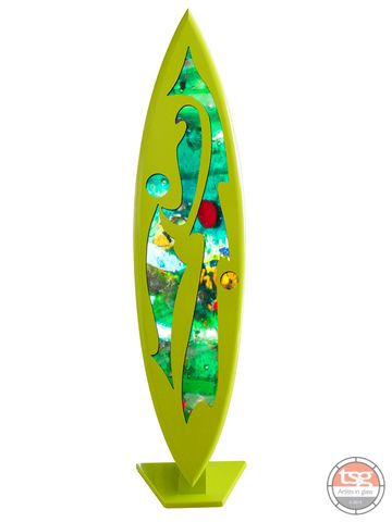 Art,Glass,Surfboard,13,MADE,TO,ORDER,fused glass, surfing, surfboards, Western Australian Art