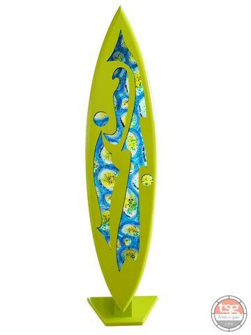 Art,Glass,Surfboard,14,fused glass, surfing, surfboards, Western Australian Art