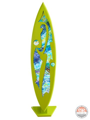 Art,Glass,Surfboard,15,MADE,TO,ORDER,fused glass, surfing, surfboards, Western Australian Art