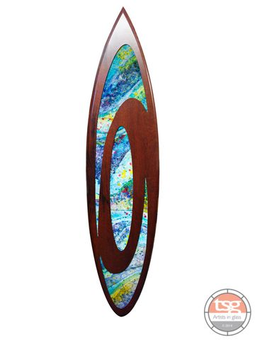 Art,Glass,Jarrah,Surfboard,01,fused glass, surfing, surfboards, Western Australian Art