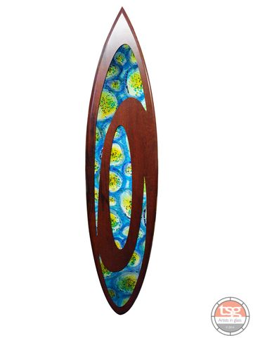Art,Glass,Jarrah,Surfboard,02,fused glass, surfing, surfboards, Western Australian Art