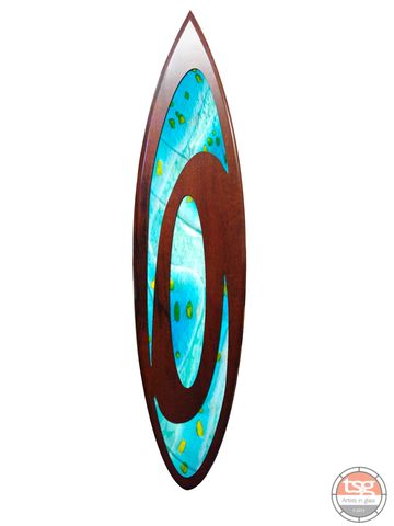 Art,Glass,Jarrah,Surfboard,05,fused glass, surfing, surfboards, Western Australian Art