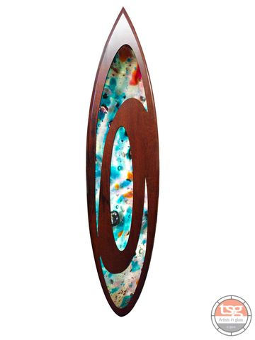 Art,Glass,Jarrah,Surfboard,06,fused glass, surfing, surfboards, Western Australian Art