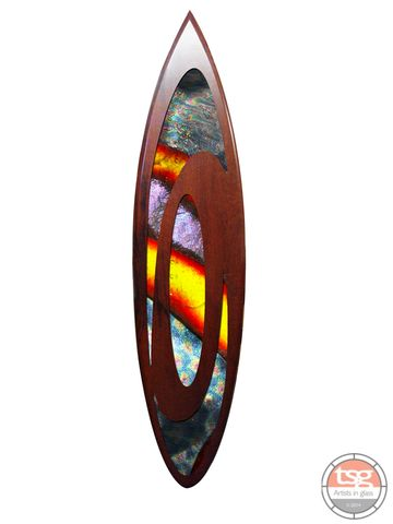 Art,Glass,Jarrah,Surfboard,09,fused glass, surfing, surfboards, Western Australian Art