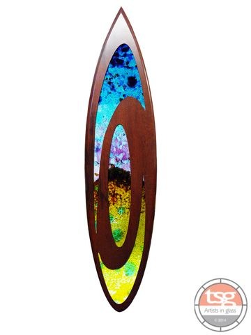 Art,Glass,Jarrah,Surfboard,15,fused glass, surfing, surfboards, Western Australian Art