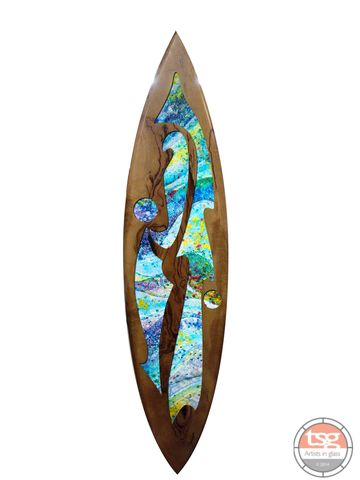 Art,Glass,Marri,Surfboard,01,fused glass, surfing, surfboards, Western Australian Art