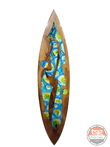 Art,Glass,Marri,Surfboard,02,fused glass, surfing, surfboards, Western Australian Art