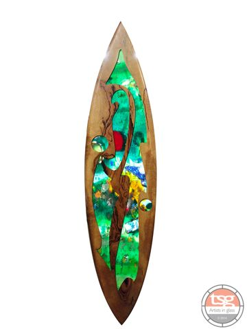Art,Glass,Marri,Surfboard,03,fused glass, surfing, surfboards, Western Australian Art