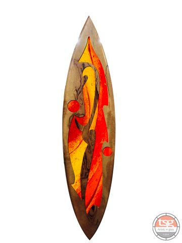 Art,Glass,Marri,Surfboard,04,fused glass, surfing, surfboards, Western Australian Art