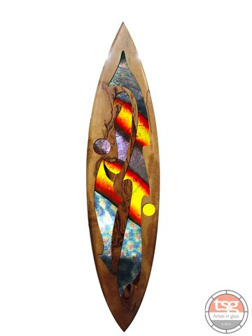 Art,Glass,Marri,Surfboard,09,fused glass, surfing, surfboards, Western Australian Art