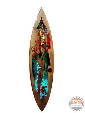 Art,Glass,Marri,Surfboard,12,fused glass, surfing, surfboards, Western Australian Art