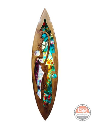 Art,Glass,Marri,Surfboard,14,fused glass, surfing, surfboards, Western Australian Art
