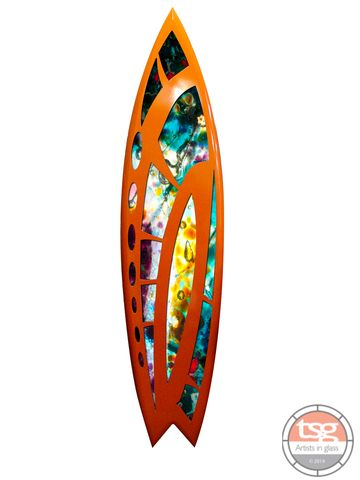 Art,Glass,Surfboard,27,fused glass, surfing, surfboards, Western Australian Art