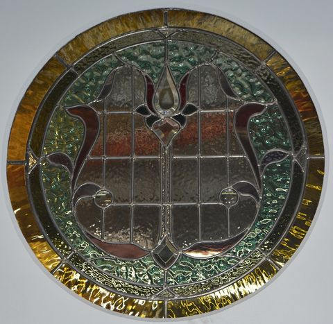 Federation,Stained,Glass,Porthole
