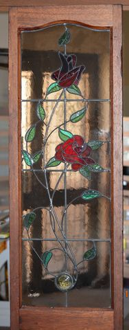 Custom-Made,Rose,Leadlight,Window,second hand leadlight window