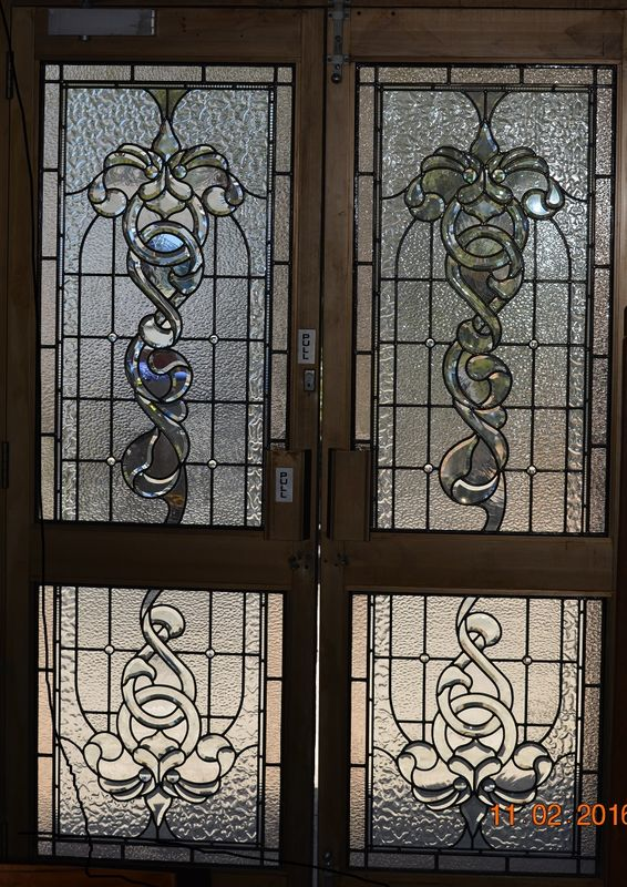 1 x Custom Front Entry Bevelled Leadlight Door Panels - product images