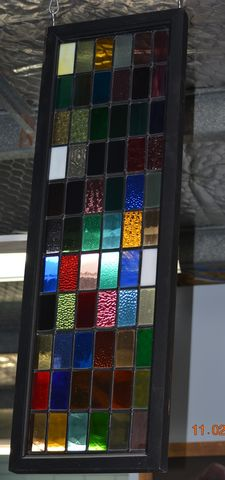 1,x,Patchwork,Leadlight,Window,Second hand leadlight window