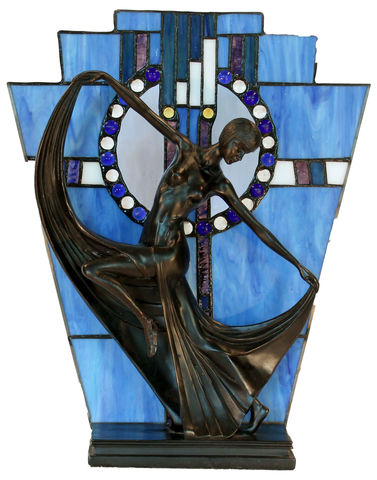 BLUE,ART,DECO,LAMP,pendant lamp shade; stained glass lamp shades;tiffany