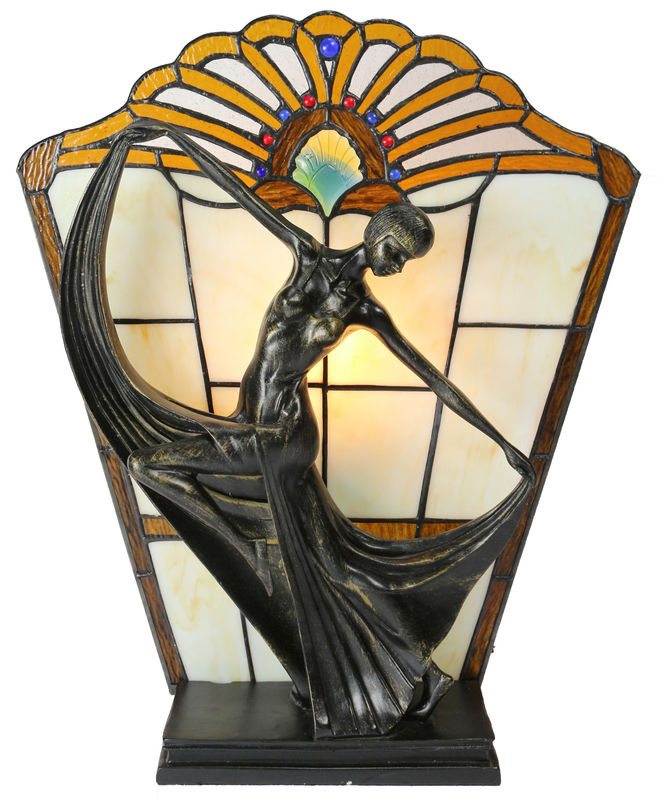 AMBER ART DECO LAMP - product images
