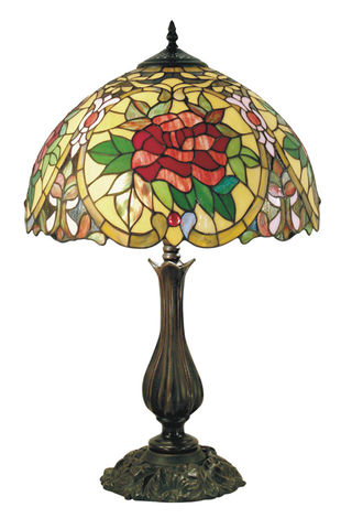 RED,CAMELLIA,TABLE,LAMP,pendant lamp shade; stained glass lamp shades;tiffany;table lamp