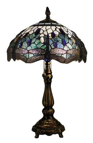 BLUE,DRAGONFLY,TABLE,LAMP,pendant lamp shade; stained glass lamp shades;tiffany;table lamp