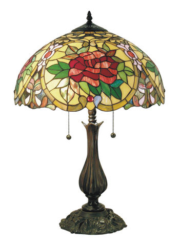 RED,CAMELLIA,LARGE,TABLE,LAMP,pendant lamp shade; stained glass lamp shades;tiffany;table lamp