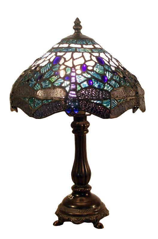 BLUE DRAGONFLY TABLE LAMP - product images