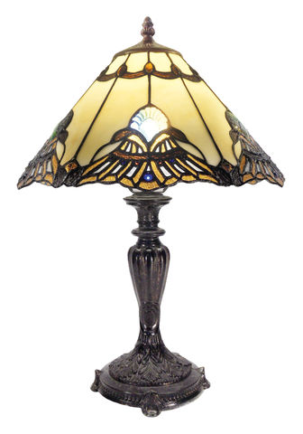 BENITA,BEIGE,TABLE,LAMP,pendant lamp shade; stained glass lamp shades;tiffany;table lamp