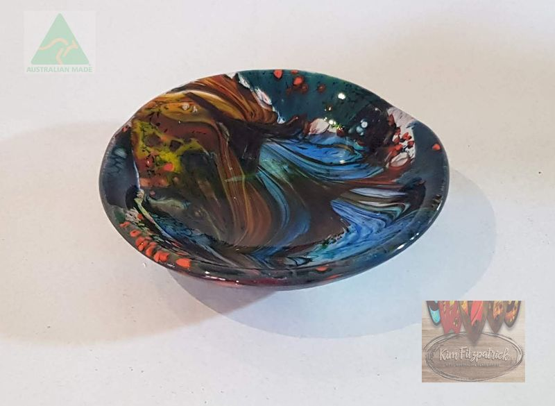 Fused Art Glass Bowl SB02 MADE TO ORDER - product images
