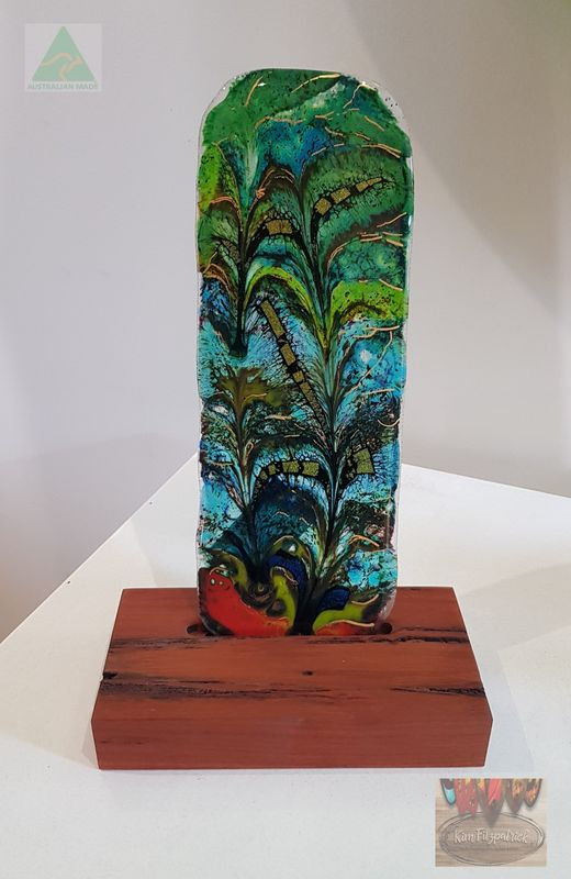 Fused art glass sample - product images
