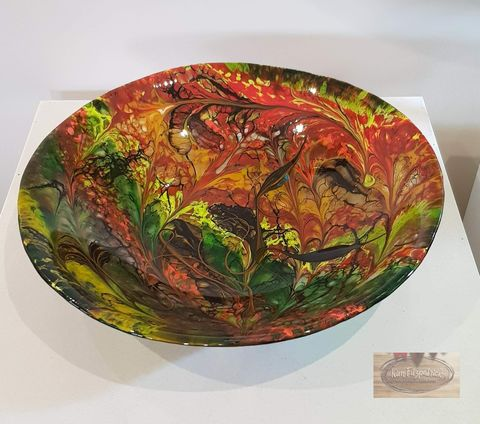 Fused,Art,Glass,Bowl,BL16,art glass giftware