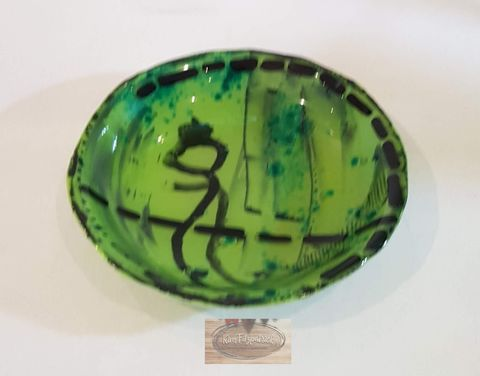 Fused,Art,Glass,Bowl,BM1