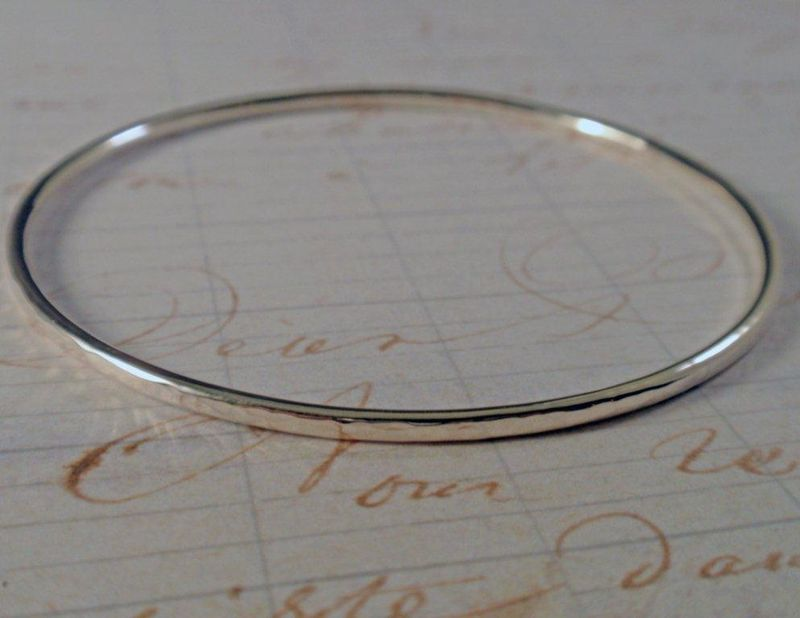 Hammered Sterling Silver Bangle Simply Stunning - product image