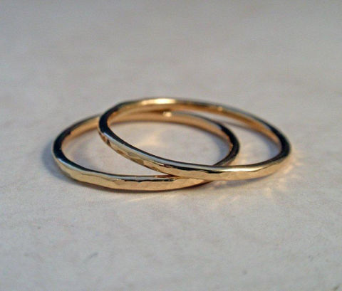 14K,Gold,Ring,Band,Set,Hammered,of,Two,Stacking,Bands,Jewelry,wedding_band,wedding_ring,wedding_set,14K_gold,14K_gold_set,14K_gold_ring,14K_gold_band,gold_stacking_ring,hammered_gold_ring,skinny_stacking_ring,hammered_gold_band,thin_gold_ring,gold_ring_band,14K gold