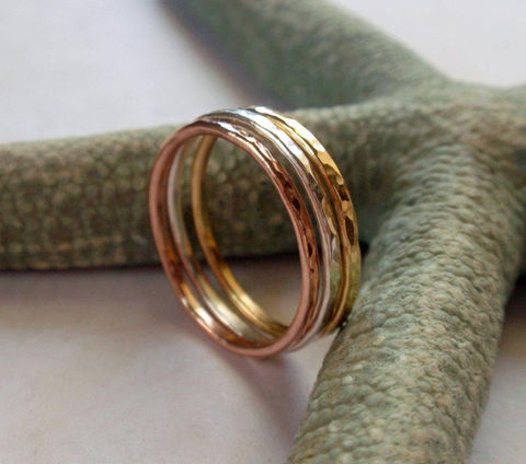 Gold,Stacking,Ring,Set,Stunning,18K,Yellow,14K,Rose,and,Sterling,Silver,Hammered,Skinny,Rings,Jewelry,skinny,stacking,set,hammered,hammered_gold_ring,wedding_band,gold_stacking_ring,gold_band,14K_gold_band,14K_rose_gold,18K_gold,18K_gold_set,14K_pink_gold,14K gold wire