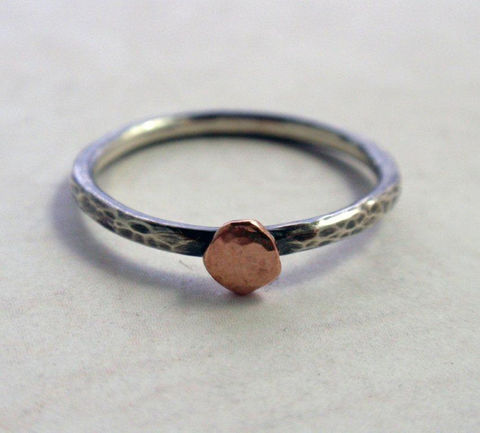 14K,Rose,Gold,and,Oxidized,Sterling,Silver,Ring,Band,Hammered,Stacking,Jewelry,14K_rose_gold_ring,rose_gold_ring_band,14K_rose_gold,gold_stacking_ring,sterling_silver,gold_and_silver_ring,organic_ring,14K_pink_gold,pink_gold_ring_band,organic_pebble_ring,silver_stacking_ring,stacker_ring,hammered_ring_band,14K rose