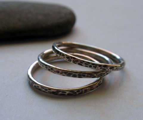 Silver,Stacking,Ring,Set,Oxidized,and,Hammered,Sterling,of,Three,Jewelry,sterling_stacker_set,stackable_ring_set,stackable_rings,hammered_stacker,hammered_ring_set,single_ring_band,single_silver_ring,simple_sterling_ring,silver_stacking_set,sterling_silver_band,oxidized_ring_set,oxidized_silver_ring,organ