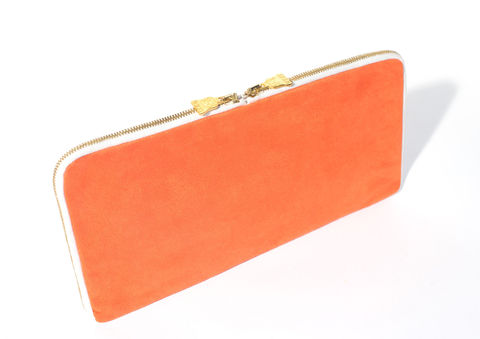 Arda,Orange,Double,Zip,Vegan, sustainable, eco, moleskin
