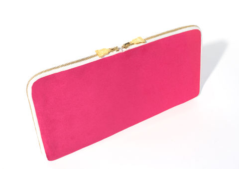 Arda,Pink,Double,Zip,Vegan, sustainable, eco, moleskin