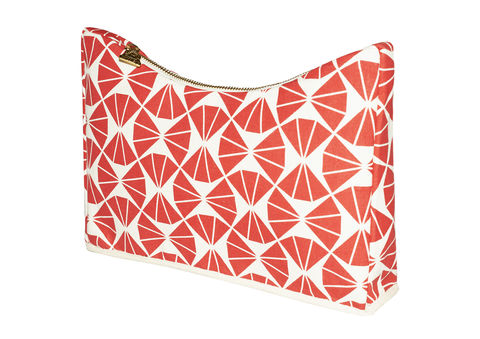 Red,Orome,Dip,Clutch,Sustainable, Vegan, Hemp, Clutch, Cotton, fashion, bag, print