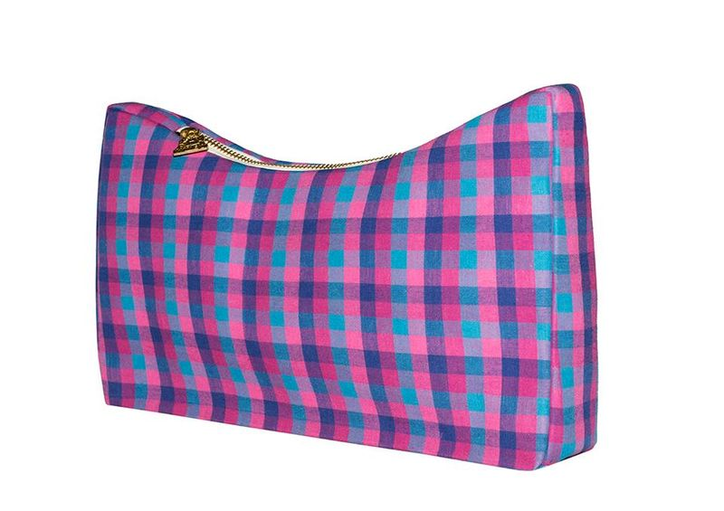 Flamingo Tartan Orome Dip Clutch - product images