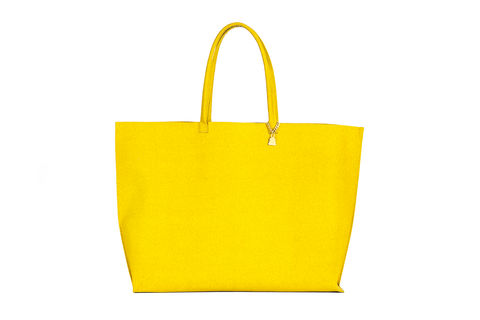 Yellow,Primrose,Tote,Cork Leather, Vegan , Tote, yellow bag